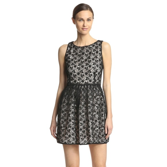 Red Valentino Layered Lace Dress Black Size 10 Nwt